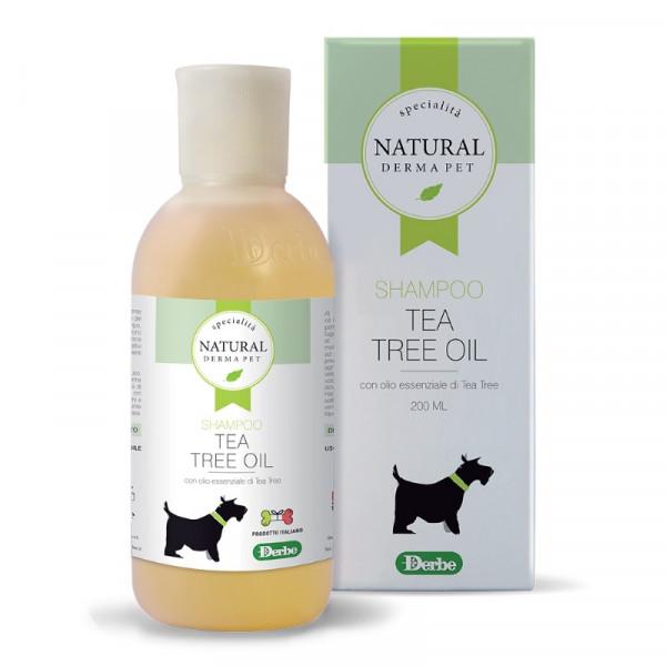 Shampoo per cani e gatti con olio essenziale di Tea Tree 200ml