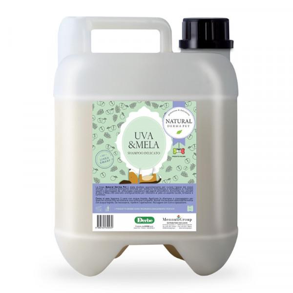 Shampoo per cani e gatti alla frutta Premium Uva e mela  - Tanica da 5 Litri