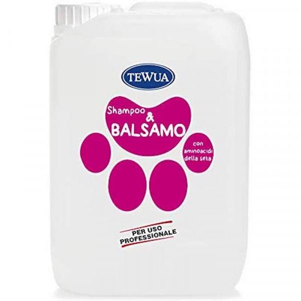 Tanica 10 lt. Shampoo e Balsamo per cani professionale - Tewua