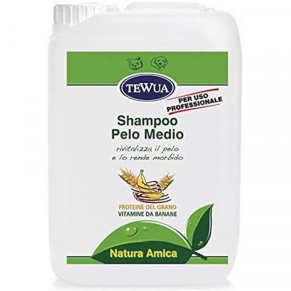 Tanica 10 lt. Shampoo professionale per cani a pelo medio - Tewua