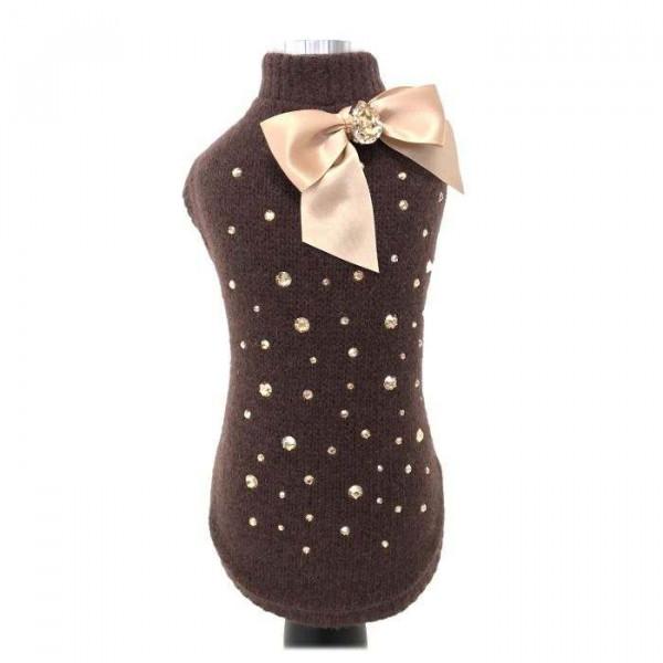 Syra marrone maglione per cani - Collezione Trilly tutti Brilli