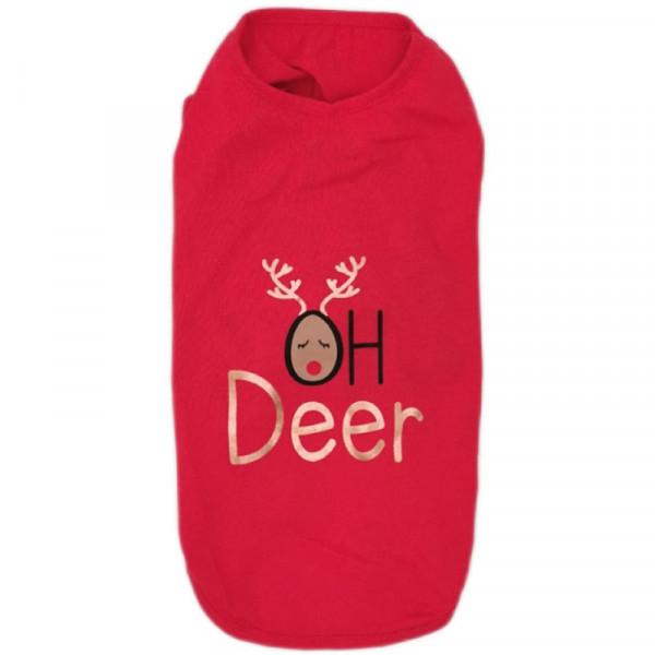"""Maglietta per cani natalizia """"Oh Deer"""" - Croci"""
