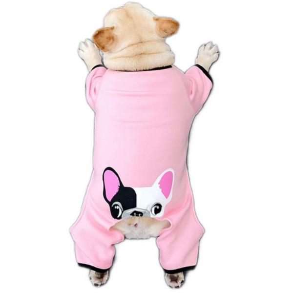 """Tuta per cani """"Bulldog"""", colore rosa - Cheepet"""