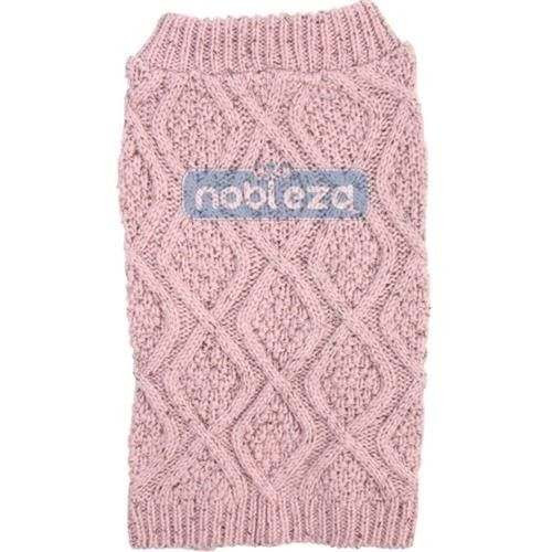 Maglione Blended Cable Pink per cani - Nobleza