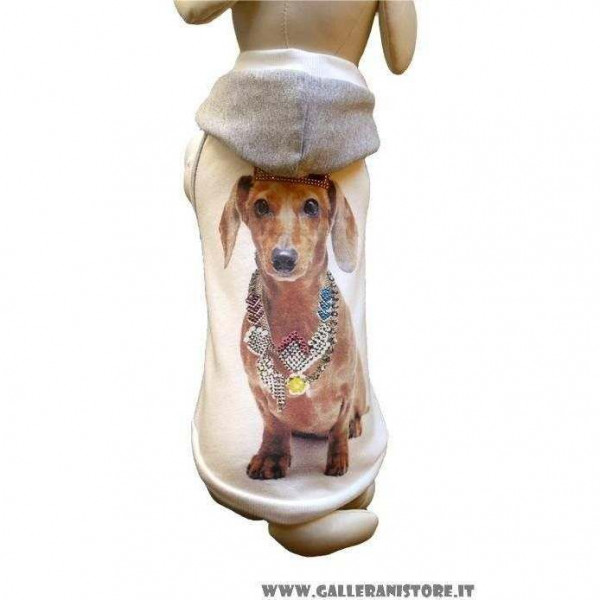 Felpa Bassotto per cani - Dog & Dolls TG M