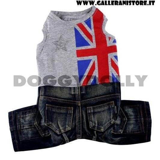 Completo pantalone Jeans Gery Union Boy London per cani - Doggy Dolly