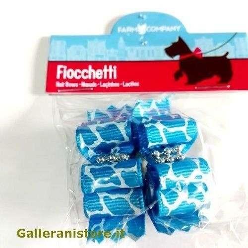 Fiocchetti maculati azzurri per cani - Farm Company