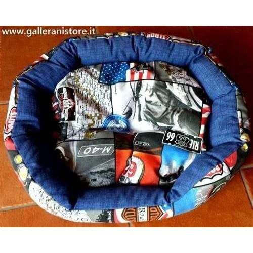 Cuccetta divanetto SOFT Mod. B Route66 cm 60x55 per cani - Farm Company