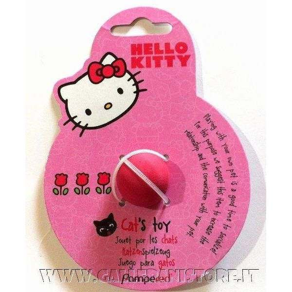 Gioco per gatti Hello Kitty pallina in lattice rosa cm 2
