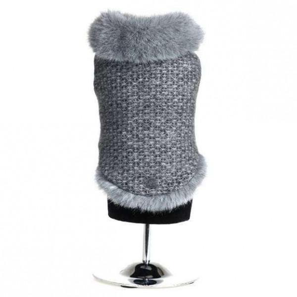 Cappotto grigio Petronia ecopelliccia per cani - Trilly tutti Brilli