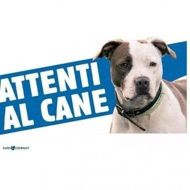 Cartello Attenti al cane Pittbull - Farm Company