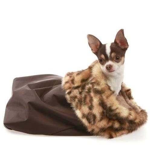 Sacconanna Ecopelliccia e tessuto Tecnico Marrone per cani - Trilly tutti Brilli