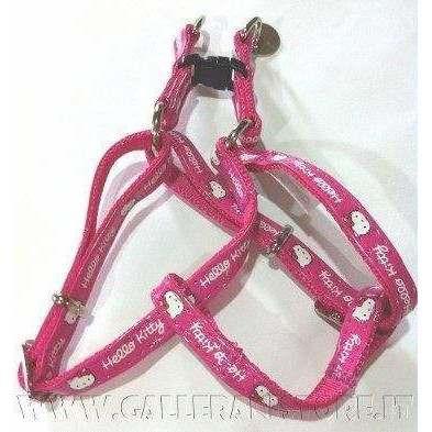 Pettorina 46/75x2cm HELLO KITTY regolabile similpelle Rosa per cani