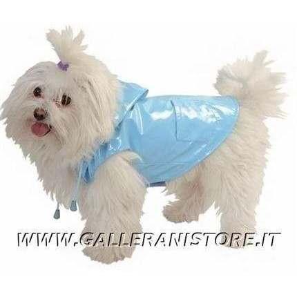 Impermeabile per cani RAINDROP Azzurro Caniamici