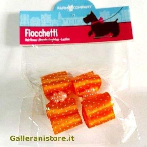 Fiocchetti arancio pois perline per cani - Farm Company