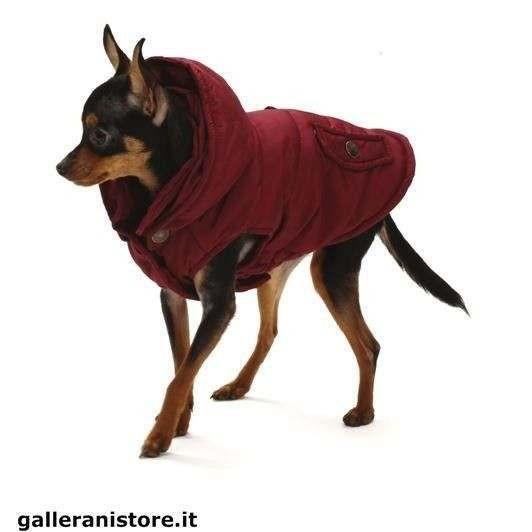 Giubbotto imbottito Red Wine per cani - Croci