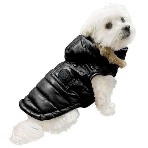 Giubbotto imbottito per cani tipo piumino Winter Coat Nero - FouFouDog