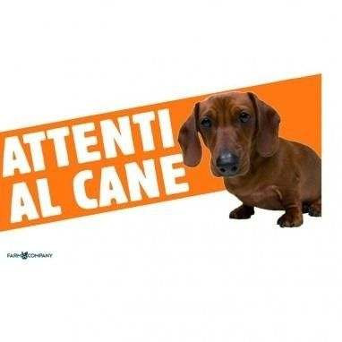 Cartello Attenti al cane Bassotto - Farm Company