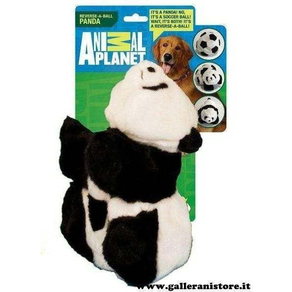 Gioco per cani reversibile da Palla a Peluche Panda cm 20