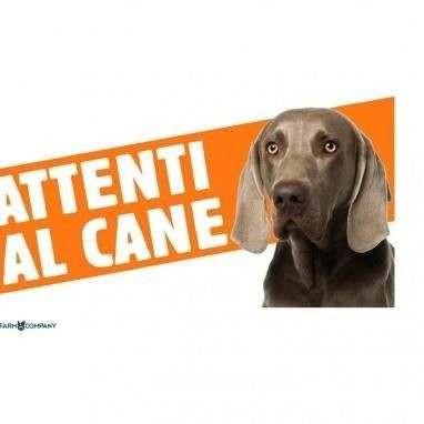 Cartello Attenti al cane Weimaraner - Farm Company