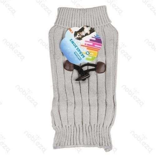 Maglione grigio dolcevita con applicazione per cani - Nobleza
