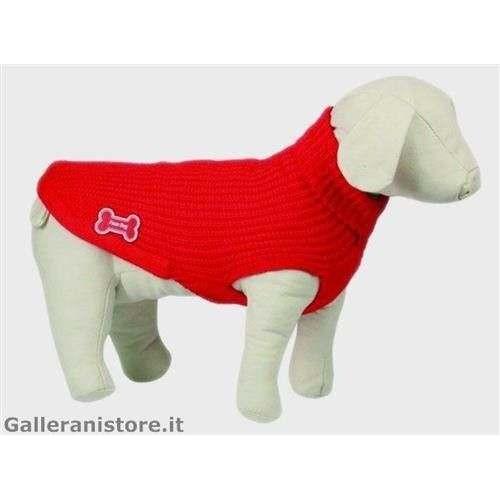 Maglione dolcevita LUX rosso cani - Fuss Dog