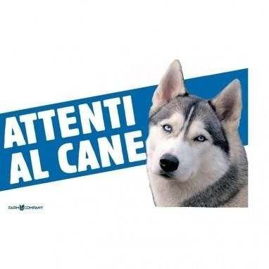 Cartello Attenti al cane Husky - Farm Company