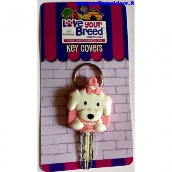 Key Cover razza cane MALTESE GIRL - FouFouDog