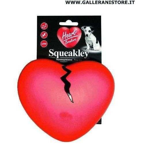 Gioco sonoro per cani Cuore Squeakley Silicone - Heart Breakers