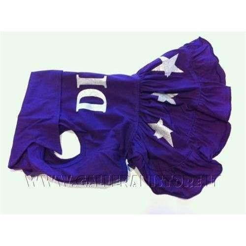 Vestitino DIVA Purple per cani Carlino e Bulldog Francese - Taglia SM