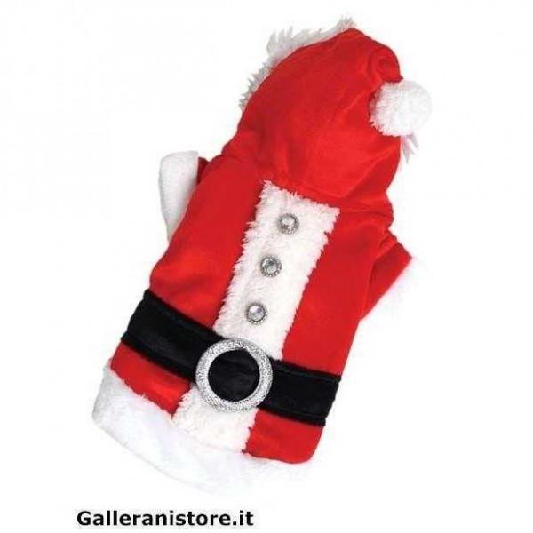 Vestitino Babbo Natale Santa Claus unisex per cani