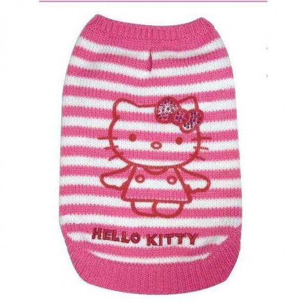 Pink Stripes Sweater Maglione per cani - HELLO KITTY