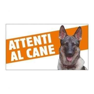 Cartello Attenti al cane Pastore Tedesco - Farm Company