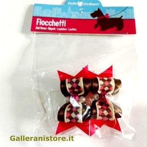 Fiocchetti Marroni con perline per cani - Farm Company
