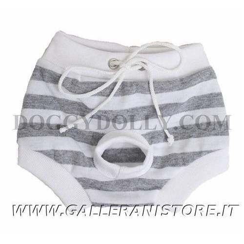Mutandina per cani Doggy Dolly Grey Stripe - Taglia L