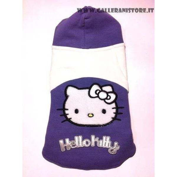 Felpa con cappuccio per cani HELLO KITTY Viola/Bianco M - FIX FOR PETS