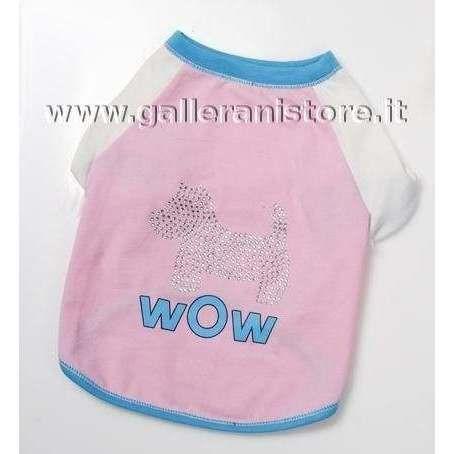 T-shirt Summer Metropolitan per cani - CM 40 Rosa
