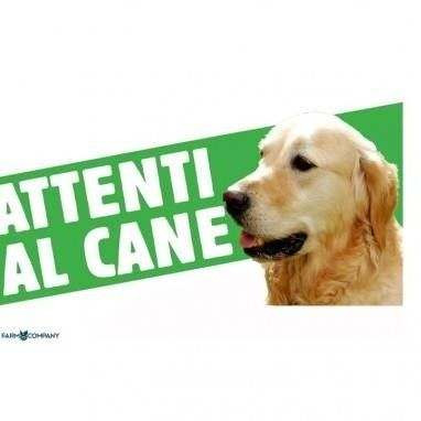 Cartello Attenti al cane Golden Retriever - Farm Company