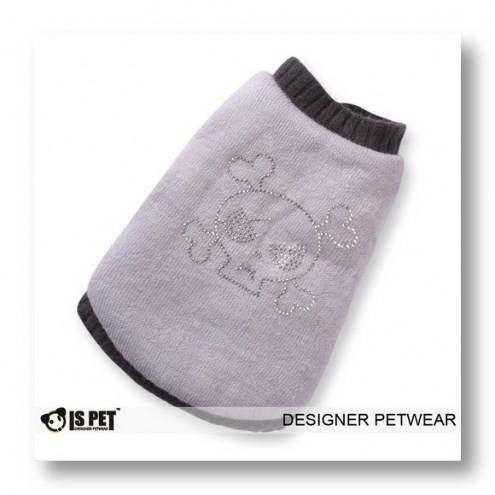 Cappottino in maglia Bone Skull Grey per cani IS PET