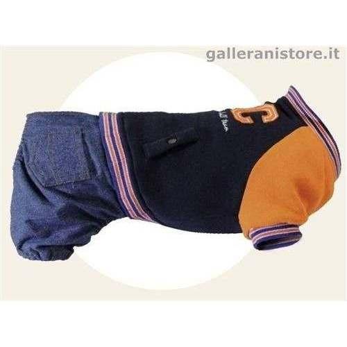 Felpa con pantalone jeans UTAH per cani - Camon