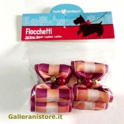 Fiocchetti con perline lilla per cani - Farm Company