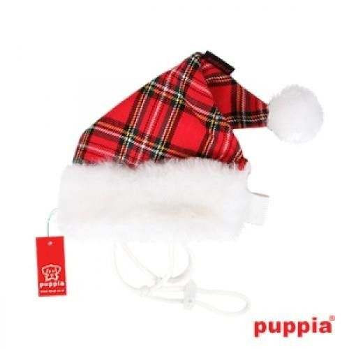 SANTA'S HAT Scacchi Rosso cappello natalizio per cani - PUPPIA