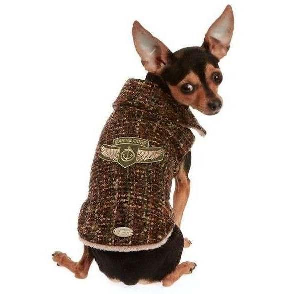 Cappotto Tessuto Chanel Marrone per cani - Trilly tutti Brilli