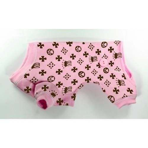 Pigiama HD Crown Longjohns Pink BIG DOGS cm 44 per cani - Hip Doggie