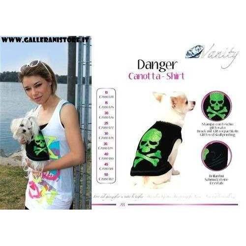 Canotta - Shirt Danger per cani - Vanity