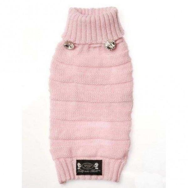 Maglione Rosa lana merino e kashmir per cani - Trilly tutti Brilli