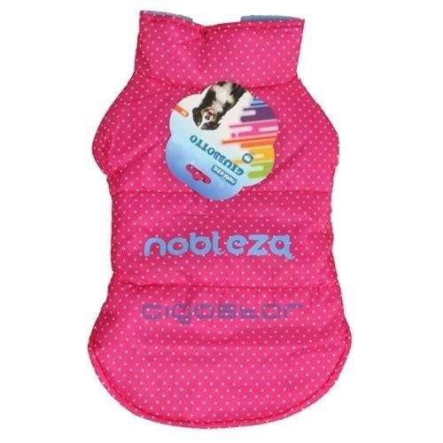 Fashion Jacket Giubbotto rosa a pois per cani - Nobleza