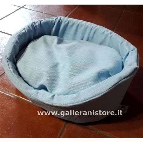 Cuccia ovale azzurra 100% Sfoderabile per cani