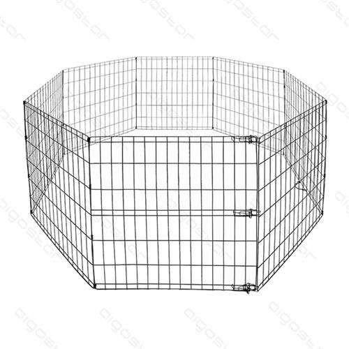 Recinto metallico componibile per cani pannelli cm 60x60