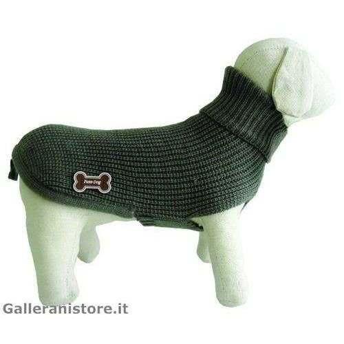 Maglione dolcevita LUX grigio cani - Fuss Dog